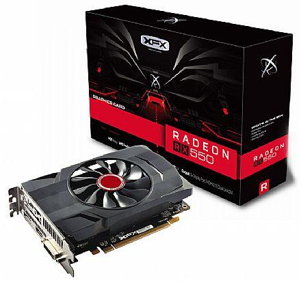 Placa de Vídeo - AMD Radeon RX 550 4GB DDR5 128bits - Core Edition - XFX RX-550P4SFG5