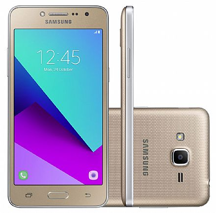 """Smartphone - Smartphone Samsung Galaxy J2 Prime - Tela 5"""" HD, Quad Core, Câmera 8MP e Flash Frontal, 16GB, Dual Chip 4G - Dourado - SM-G532M"""