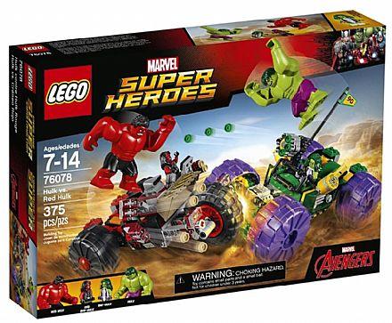 Brinquedo - LEGO Super Heroes - Hulk contra Hulk Vermelho - 76078