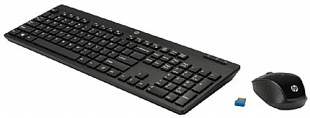 Kit Teclado e Mouse - Kit Teclado e Mouse sem Fio HP C200 - ABNT2 - 1000dpi - 2.4Ghz - Preto - Z3Q63AA