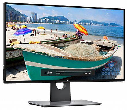 """Monitor - Monitor 27"""" Dell U2717D UltraSharp - Tela Infinita Quad HD 2560 x 1440 - QHD - Rotação e Ajuste de Altura - Furação VESA - HUB USB 3.0 - Seminovo - Garantia 90 dias"""