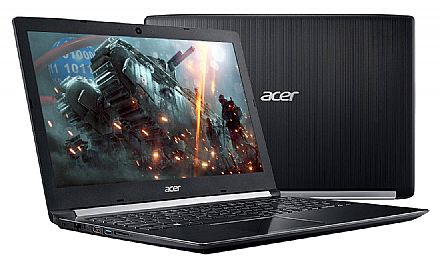 "Notebook - Notebook Acer Aspire A515-51G-72DB - Tela 15.6"" Full HD, Intel i7 7500U, 8GB DDR4, SSD 256GB, GeForce 940MX 2GB, Windows 10"