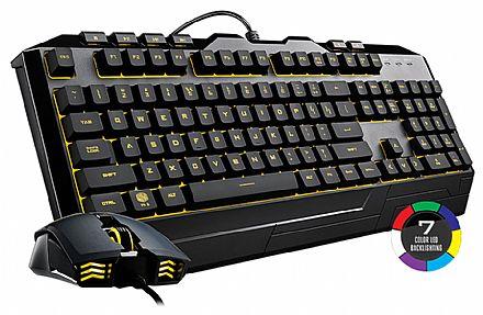 Kit Teclado e Mouse - Kit Teclado e Mouse Gamer Cooler Master Devastator lll - LED 7 Cores - 2400dpi - ABNT2 - SGB-3000-KKMF1-BR