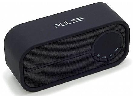Caixa de Som - Caixa de Som Portátil Pulse Multilaser SP206 Colors Series - Bluetooth - 10W RMS - Preto