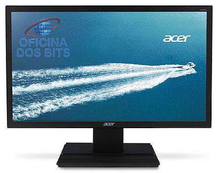 "Monitor - Monitor 19.5"" Acer V206HQL TN LED - HD - Furação VESA - 5ms - VGA"