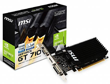 Placa de Vídeo - GeForce GT 710 1GB DDR3 64bits - Low Profile - MSI 912-V809-202