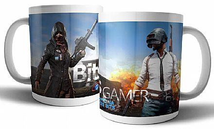 Acessórios - Caneca de porcelana - Bits Gamer Playerunknown`s Battlegrounds