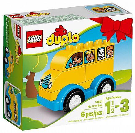 Brinquedo - LEGO Duplo - O Meu Primeiro Ônibus - 10851