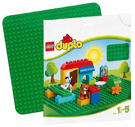Brinquedo - LEGO Duplo - Base de Construção Verde Grande - 2304