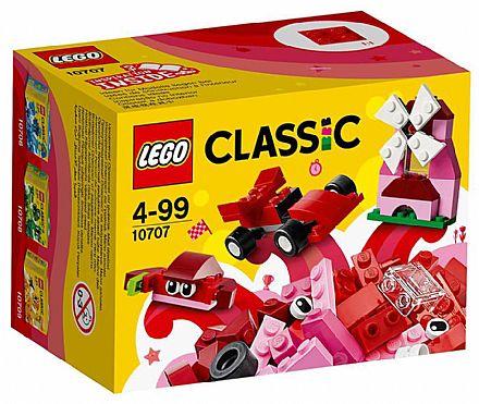 Brinquedo - LEGO Classic - Caixa de Criatividade Vermelha - 10707