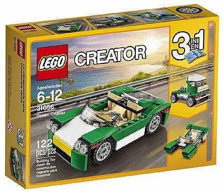 Brinquedo - LEGO Creator - Carro de Passeio Verde - 31056