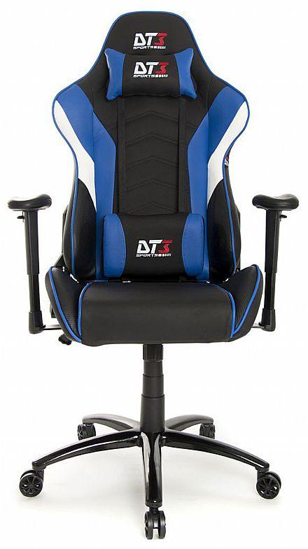 Cadeiras - Cadeira Gamer DT3 Sports Elise Blue - Encosto Reclinável de 180º - Construção em Aço - 10634-4
