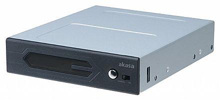 Gabinete - Painel Controlador Akasa Vegas para Fitas LED - Até 4 dispositivos LED - Painel frontal com LED RGB - AK-RLD-01