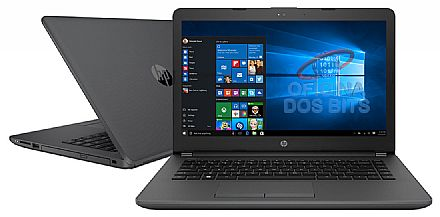 "Notebook - Notebook HP 240 G6 - Tela 14"" HD, Intel i3 7020U, 4GB DDR4, SSD 128GB, Intel HD Graphics 620, Windows 10"