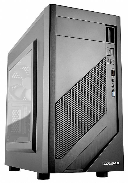 Gabinete - Gabinete Cougar Gaming MG110-W - Mini Torre - com Janela Lateral em Acrílico - USB 3.0 - Preto