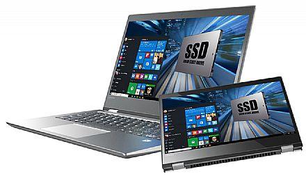 """Notebook - Notebook Lenovo Yoga 520 2 em 1 - Tela 14"""" HD Touchscreen, Intel i5 7200U, 8GB, SSD 240GB, Leitor Biométrico, Windows 10 - 80YM0007BR"""