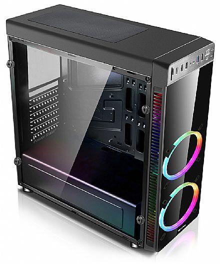 Gabinete - Gabinete Gamer C3 Tech MT-G1000BK - USB 3.0 - Janela Lateral de Vidro - LED RGB