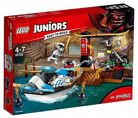 Brinquedo - LEGO Juniors - A Perseguição de Barco Ninja do Zane - 10755