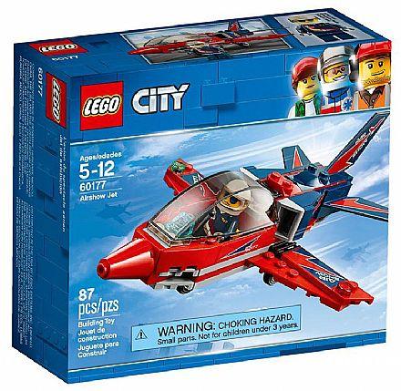 Brinquedo - LEGO City - Espetáculo Aéreo de Avião a Jato - 60177