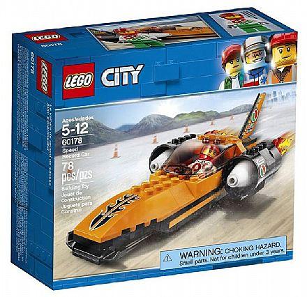 Brinquedo - LEGO City - Batedor de Recordes de Velocidade - 60178