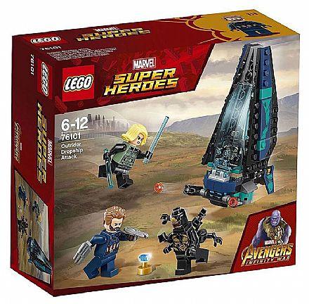 Brinquedo - LEGO Marvel Super Heroes - Ataque à Escolta de Cargueiro - 76101