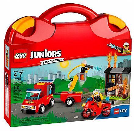 Brinquedo - LEGO Juniors - Mala do Corpo de Bombeiros - 10740