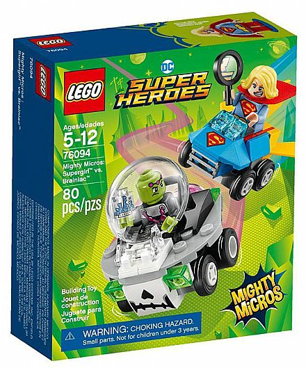Brinquedo - LEGO DC Super Heroes - Mighty Micros: Supergirl vs. Brainiac - 76094