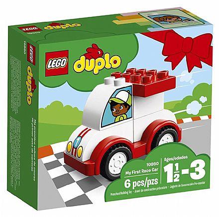 Brinquedo - LEGO Duplo - O meu Primeiro Carro de Corrida - 10860
