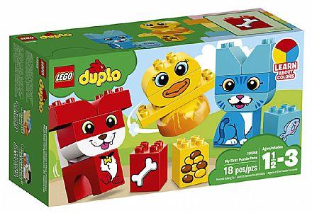 Brinquedo - LEGO Duplo - O meu Primeiro Quebra-Cabeças com Animais de Estimação - 10858