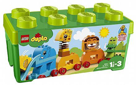 Brinquedo - LEGO Duplo - A Minha Primeira Caixa - Trem Animal - 10863