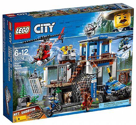Brinquedo - LEGO City - Quartel General da Polícia na Montanha - 60174