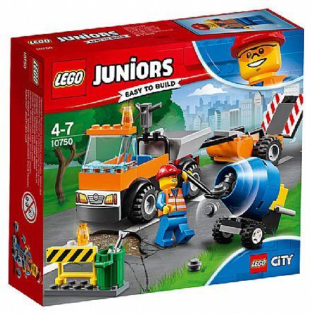 Brinquedo - LEGO City Juniors - Caminhão de Reparação das Estradas - 10750