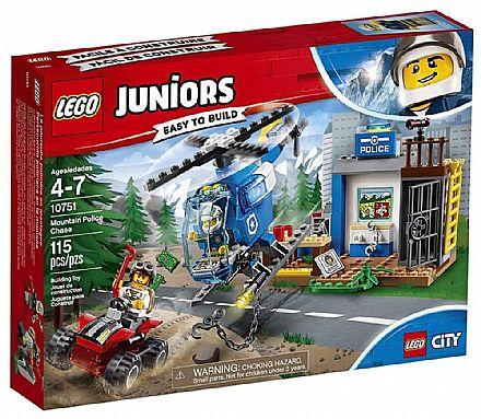 Brinquedo - LEGO City Juniors - Perseguição Policial na Montanha - 10751