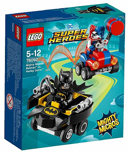 Brinquedo - LEGO DC Super Heroes - Mighty Micros: Batman vs. Arlequina - 76092