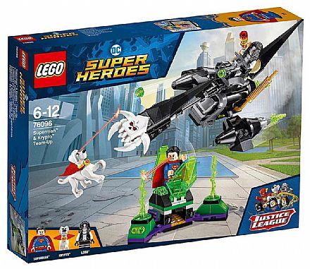 Brinquedo - LEGO DC Super Heroes - Superman & Krypto - 76096
