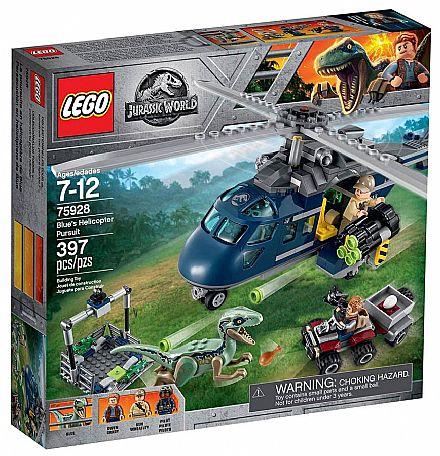 Brinquedo - LEGO Jurassic World - A Perseguição de Helicóptero - 75928