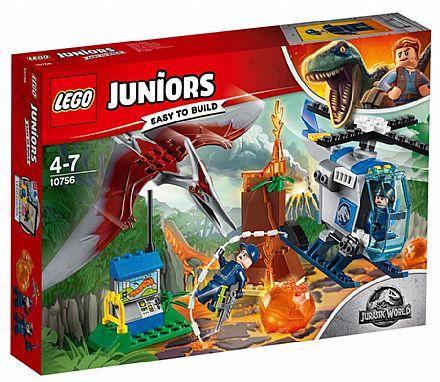 Brinquedo - LEGO Juniors Jurassic World - Fuga de Pteranodonte - 10756