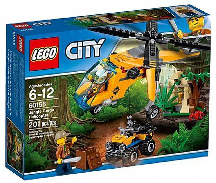 Brinquedo - LEGO City - Helicóptero de Carga da Selva - 60158