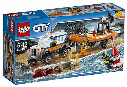 Brinquedo - LEGO City - Unidade de Resgate 4 x 4 - 60165
