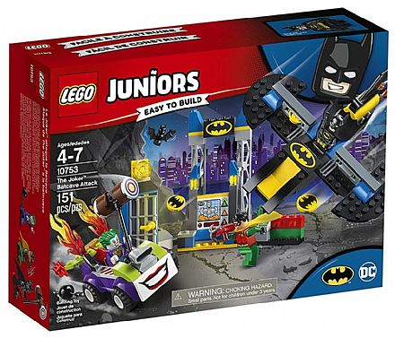 Brinquedo - LEGO Juniors - O Ataque à Batcaverna do Joker - 10753
