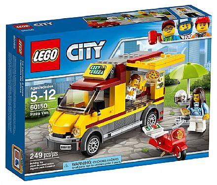 Brinquedo - LEGO City - Van de Entrega de Pizzas - 60150