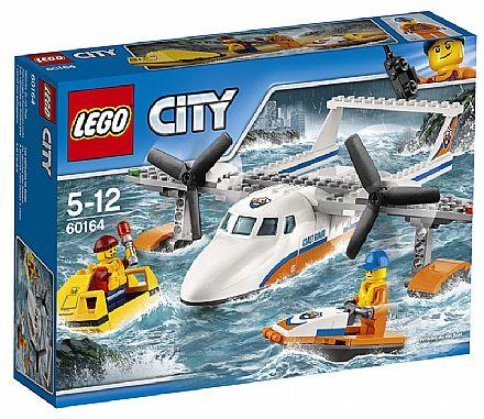 Brinquedo - LEGO City - Hidroavião de Resgate - 60164