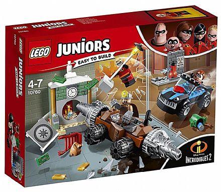 Brinquedo - LEGO Juniors Os Incríveis - Assalto ao Banco - 10760