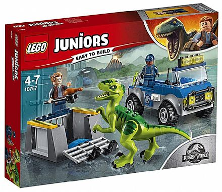 Brinquedo - LEGO Juniors Jurassic World - Caminhão de Resgate de Raptor - 10757