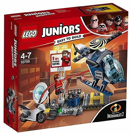 Brinquedo - LEGO Juniors Os Incríveis - A Perseguição no Telhado - 10759