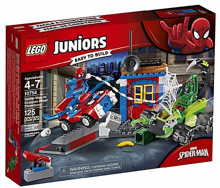 Brinquedo - LEGO Juniors - Confronto de Rua Spider-Man vs. Scorpion - 10754