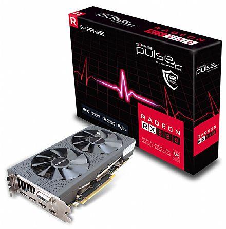 Placa de Vídeo - AMD Radeon RX 580 8GB GDDR5 256bits - Pulse - Sapphire 11265-05-20G