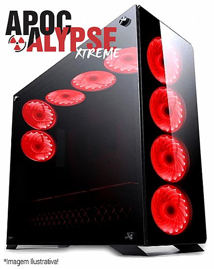 Computador Gamer - PC Gamer Bits Apocalypse Xtreme - Intel® i7 8700, Water Cooler, 32GB, HD 4TB, SSD 480GB, Geforce GTX 1080Ti 11GB