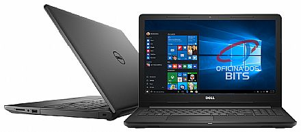 "Notebook - Dell Inspiron i15-3567-A50P - Tela 15.6"" HD, Intel i7 7500U, 8GB, HD 2TB, Intel HD Graphics 620, Windows 10 - Preto - Garantia 1 ano - Outlet"
