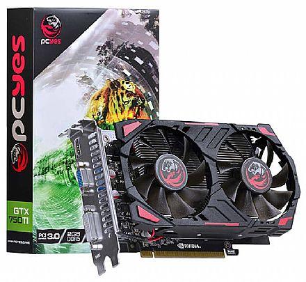 Placa de Vídeo - GeForce GTX 750Ti 2GB GDDR5 128bits - PCYes PPV750TI12802D5